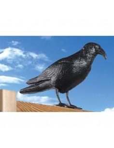 Cuervo plastico anti palomas