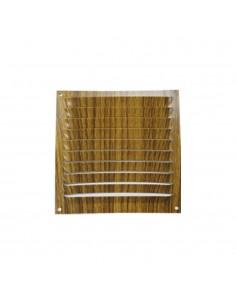 Rejilla plana ventilacion 100x100mm color madera oscura