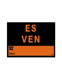 """Cartel pvc 40x30cm """"es ven"""""""