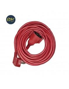 Prolongacion manguera 15mts 3x1,5 flexible roja edm