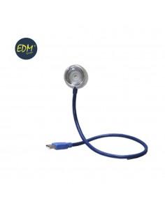 """Flexo usb led modelo """"bangkok"""" 0,5w cuello flexible color azul 220-240v edm"""