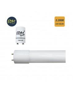 Tubo led t8 18w eco 3.200k luz calida edm (equivalente 36w)