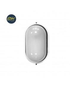 Aplique aluminio ip54 oval blanco e27 100w  modelo cambrils