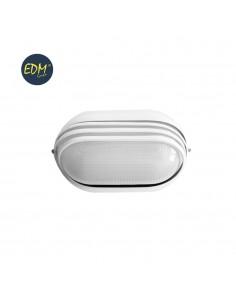 Aplique aluminio ip54 oval blanco e27 60w modelo vinyols