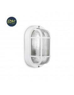 Aplique ip54 oval blanco e27 40w 20x11,3cm mod. ovalo tarragona