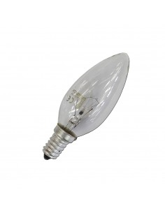 Bombilla vela clara 60w e14 (solo uso industrial)