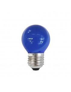 Bombilla esferica e27 25w 220/240v azul
