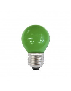 Bombilla esferica e27 25w 220/240v verde