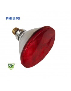 "Bombilla par infrarrojos - 175w ""energy saver"" - e27 - roja (terapeutica) - philips"