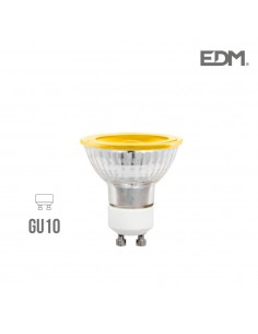 Lampara dicroica 230v 5w gu-10 amarilla 280 lumens apertura 120º  edm