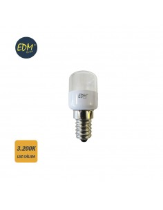 Bombilla frigorifico led 0,5w 60 lumens  e14 3.200k luz calida edm