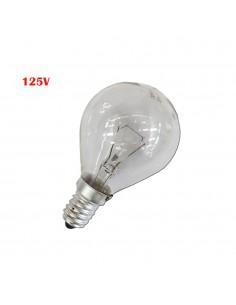 Bombilla esferica clara 60w e14 125v (solo uso industrial)
