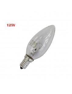 Bombilla vela clara 60w e14 125v (solo uso industrial)
