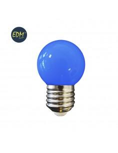 Bombilla esferica led - mate - e27 - 1,5w - azul - edm