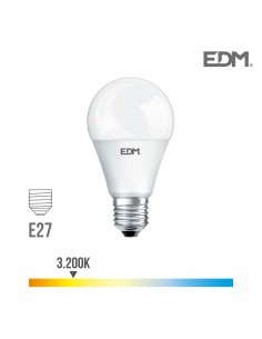 Bombilla standard led - smd - e27 - 10w - 810 lumens - 3200k - luz calida - edm