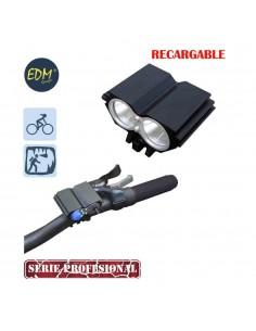 Linterna recargable de cabeza y bicicleta con 2 super led cree xml t6  (cargador y batería incluida)