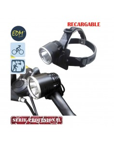 Linterna  recargable con doble funcion cabeza y bicicleta con super led de 10w