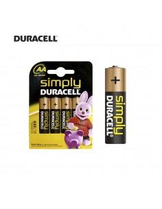 Pila duracell simply  lr06 aa (blister 4 pilas)
