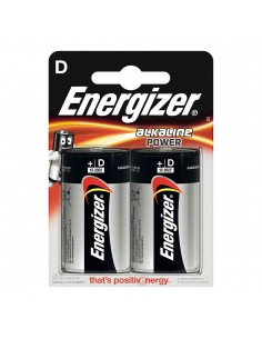 Pila energizer alkaline power lr20 d (blister 2 pilas)