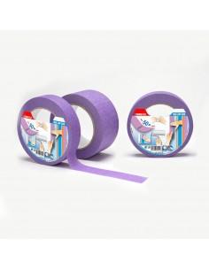 Cinta masking lila  25mmx50mts  baja adhesividad para superficies delicadas