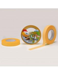Cinta masking fibra de arroz  25mmx50mts  para pintar linea de precision