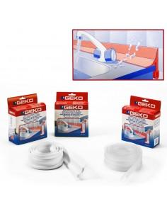Guarnicion pvc para lavabos - fregaderos blanco 130cm