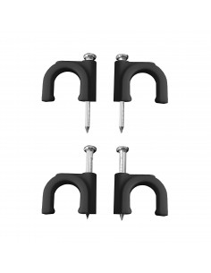Grapa negra cable manguera tubular 2x6 nº 10 (caja 100uni)