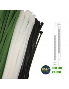 Bridas verdes 200x4,8 mm (bolsa 100 uni)