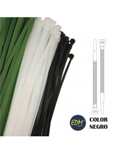 Bridas negras 300x4.8 mm(bolsa 100 uni)