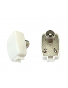 Conector macho acodado 13mm