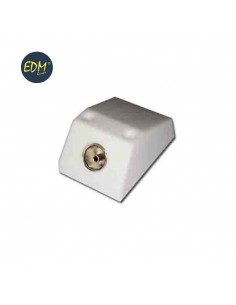 Base superficie tv-9,5mm 1 toma mini