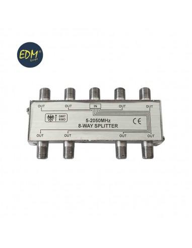 Separador 1 entrada 8 salidas 5-2050 mhz