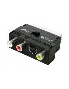 Adaptador euroconector entrada/salida a 3 rca  hembra +svhs