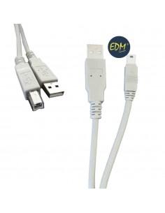 Cable usb tipo a macho a conexion usb tipo b macho 1.80 m edm