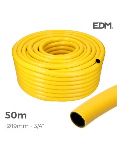 "Manguera agricola amarilla ø interior 19mm ø exterior 25mm (5/8"") rollo 50mts"