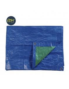 Toldo 4x6mts doble cara azul/verde ojetes de metal densidad 90grs/m2  edm