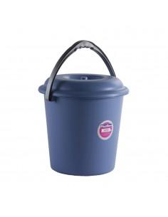 Cubo basura con tapa 16 litros color azul