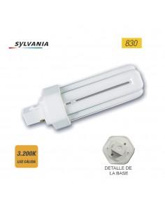 "Bombilla lynx-t g24-d2 26w 830k 2pin ""sylvania"" (equivalencia philips: pl-t 2p)"