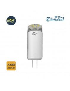 Bombilla bi-pin 12v led 3,5w 320 lumens 3.200k luz calida serie diamond edm