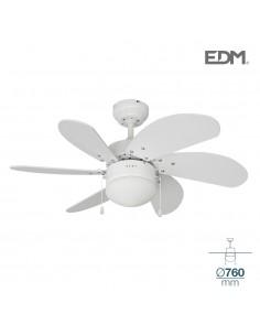 Ventilador techo modelo aral blanco ø76cm 80m3/min edm