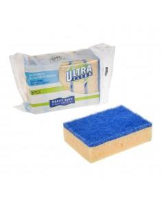 Set 5 esponjas con fibra