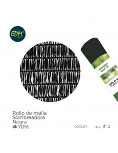 Malla plegable negra 70% 4x5mts