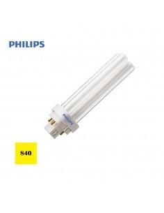 Bombilla bajo consumo lynx 1800lm d-26w pld-4 pin 840k luz dia philips