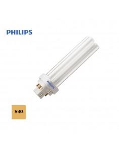 Bombilla bajo consumo lynx 1800 lumens d-26w pld-4 pin 830k luz calida philips