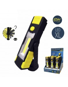 Linterna led cob xl  doble funcion 1led x 3w y 1 led x1w con gancho e iman
