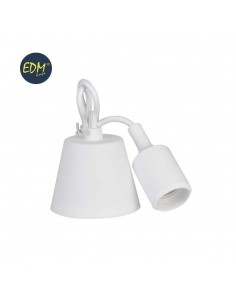 Colgante de silicona e27 60w blanco (98,4 cm) edm