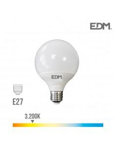 Bombilla globo ø 125mm led15w e27 3.200k luz calida edm