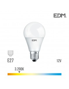 Bombilla standard led - smd - e27 - 10w - ---12v--- - 810 lumens - 3200k - luz calida - edm