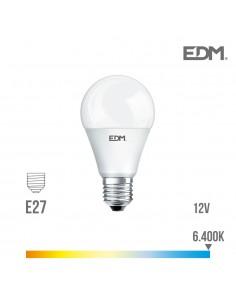 Bombilla standard led - smd - e27 - 10w - ---12v--- - 810 lumens - 6400k - luz fria - edm