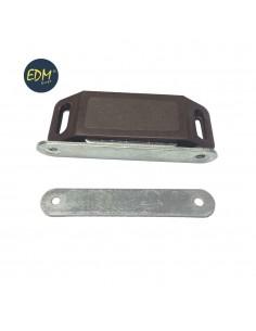 Iman para puerta marron (dos piezas) 58x15mm